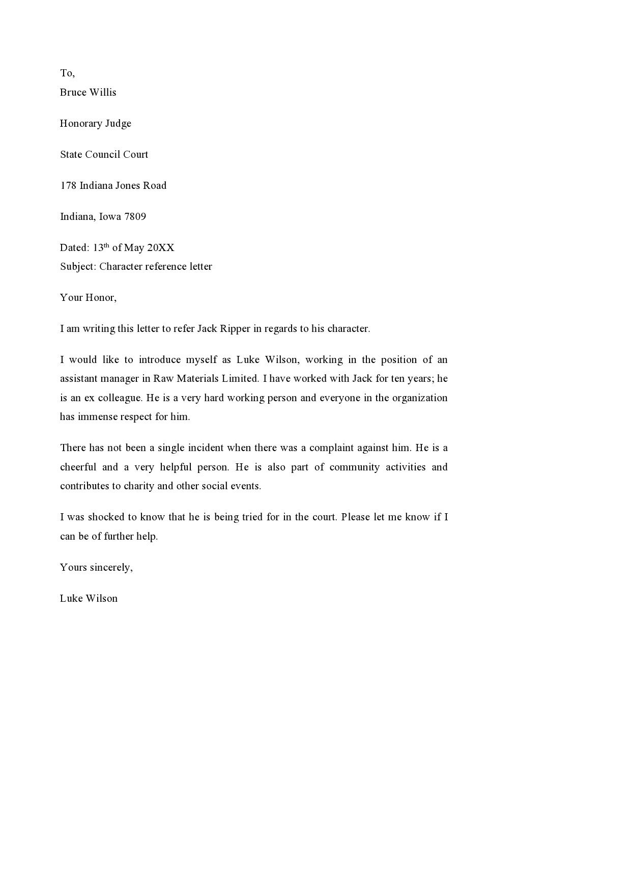 001 Imposing Letter Of Reference Template Design  For Employee Word Coworker TeacherFull