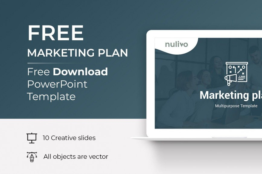 001 Imposing Marketing Plan Template Free Powerpoint Sample  Download