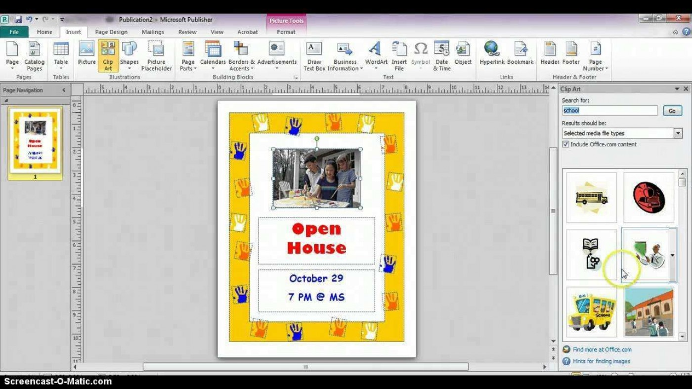 001 Imposing Microsoft Publisher Free Template Sample  2007 Brochure Download M1400