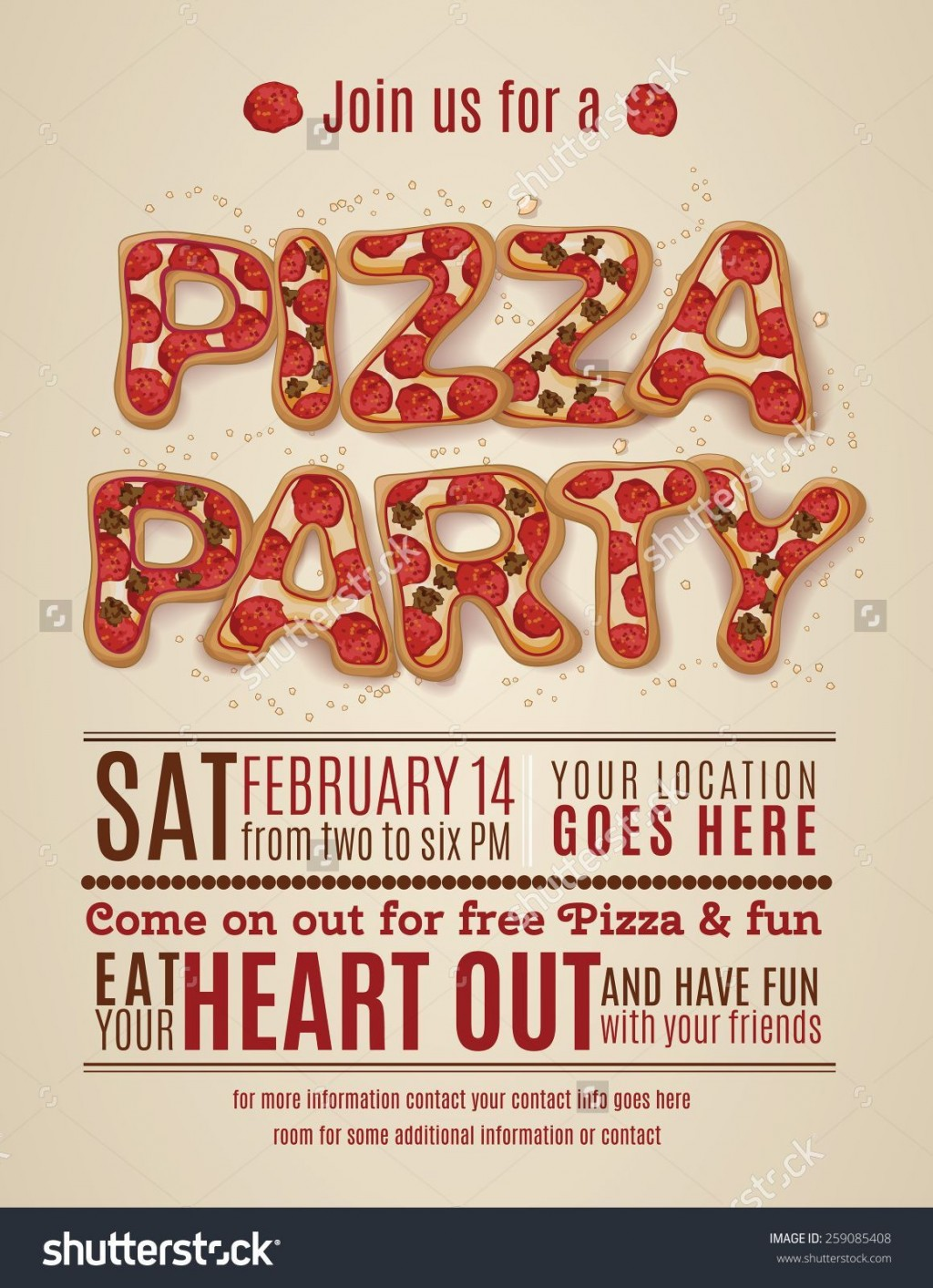 001 Imposing Pizza Party Invitation Template Free High Definition  PrintableLarge
