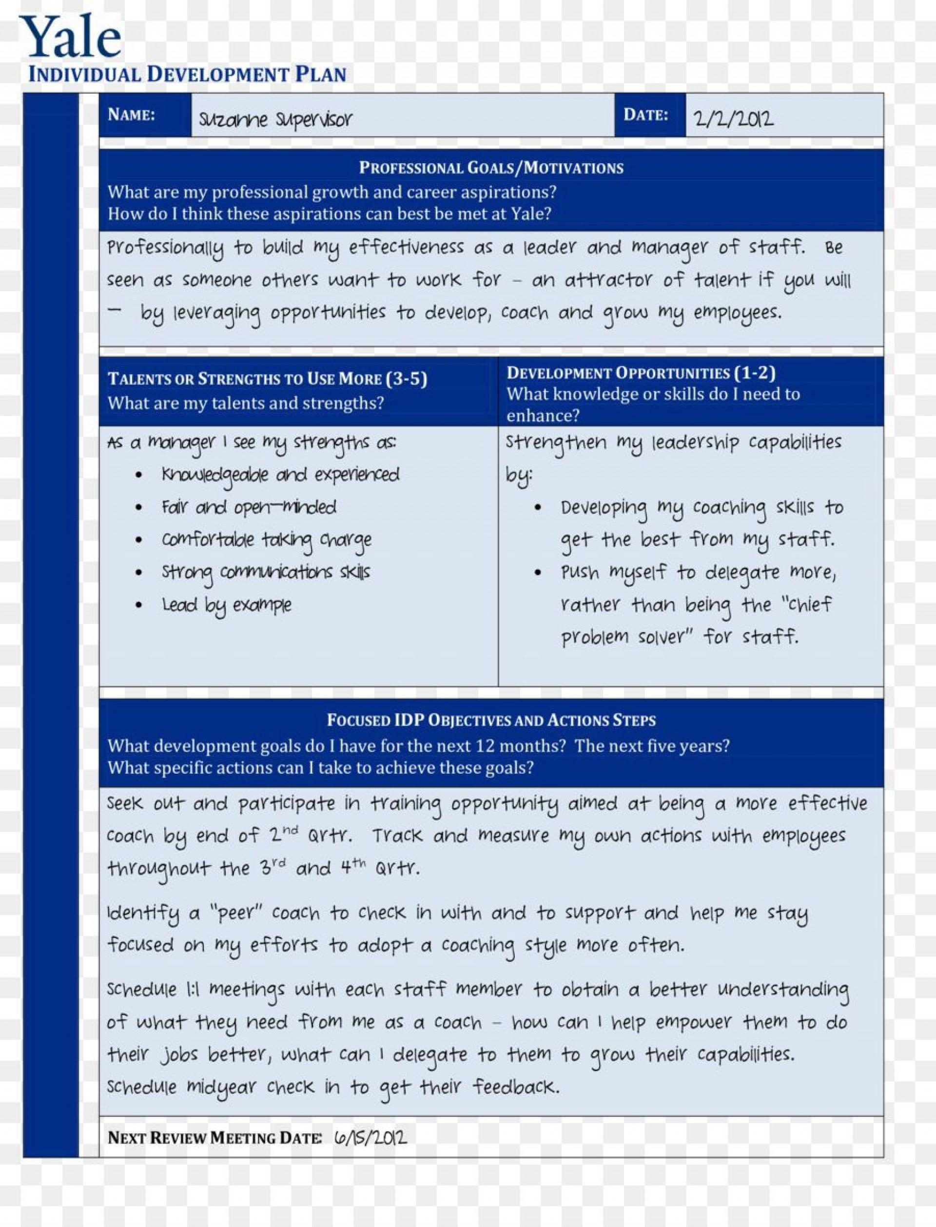 001 Imposing Professional Development Plan Template Pdf Highest Clarity  Sample Example1920