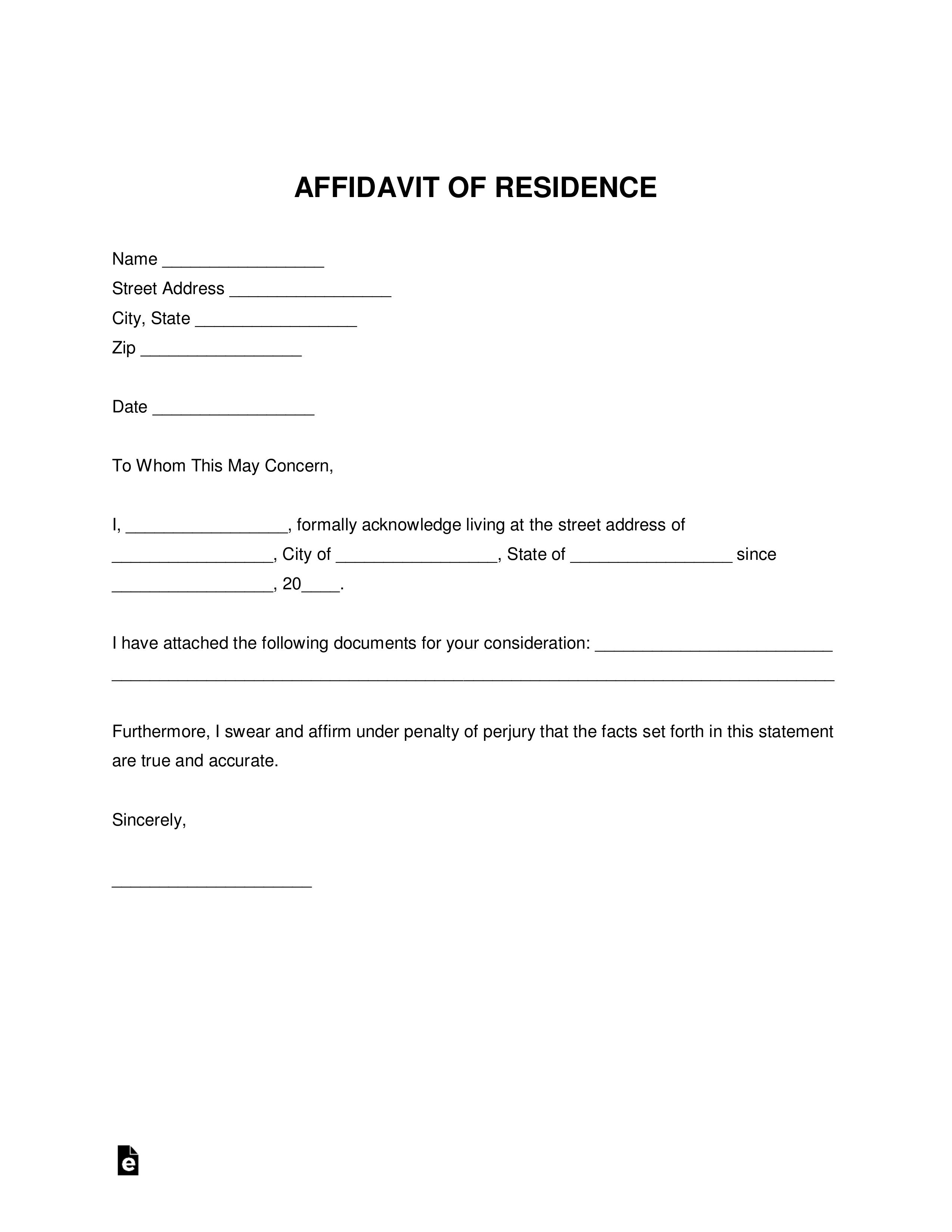 001 Imposing Proof Of Residency Letter Template Highest Quality  Pdf From Landlord Family Member South AfricaFull