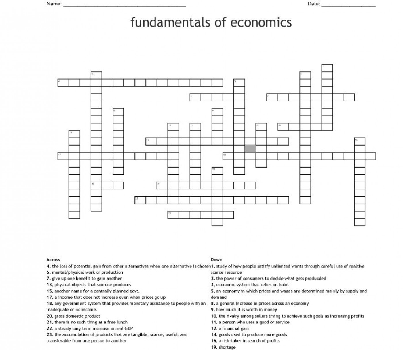 001 Imposing Prosperity Crossword Picture  Sound Clue Material1400