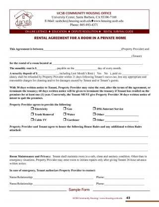 001 Imposing Rental Agreement Template Free Picture  Tenancy Form Download Word320