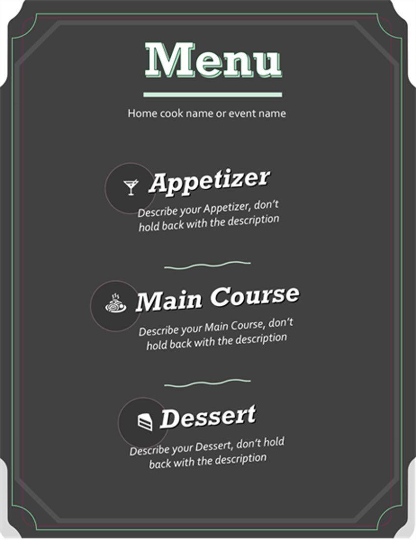 001 Imposing Restaurant Menu Template Free Download Idea Full