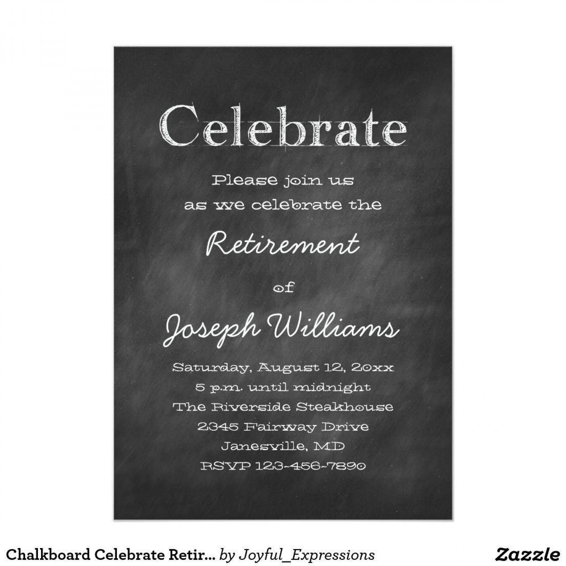 001 Imposing Retirement Party Invite Template Word Free Sample 1920