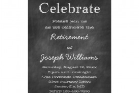 001 Imposing Retirement Party Invite Template Word Free Sample