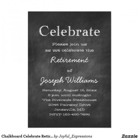 001 Imposing Retirement Party Invite Template Word Free Sample 480