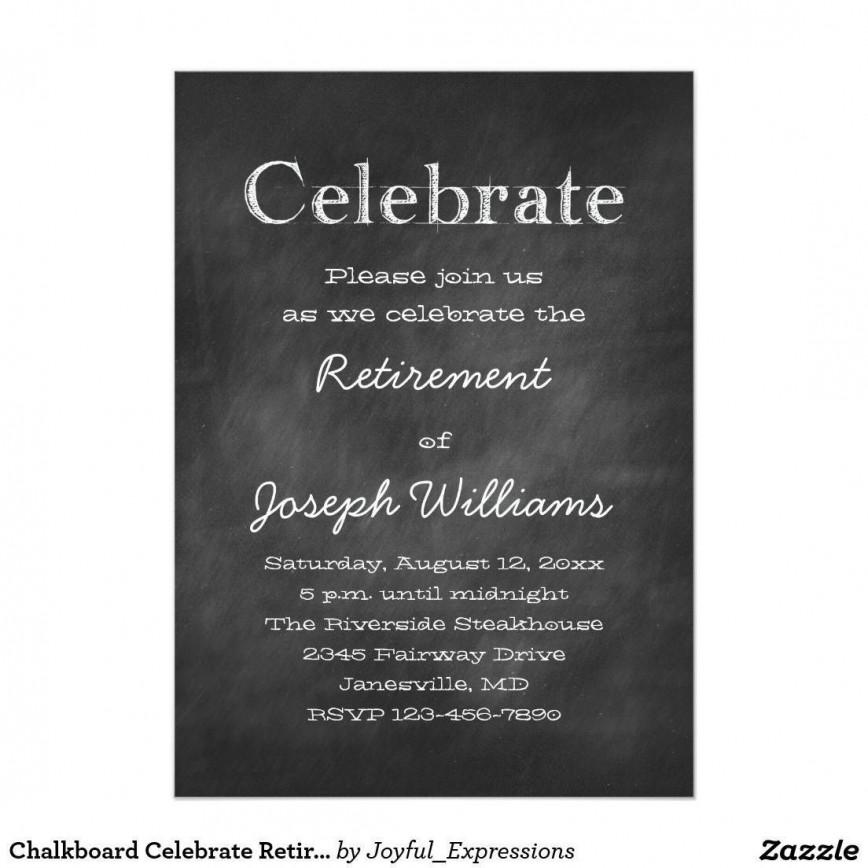 001 Imposing Retirement Party Invite Template Word Free Sample 868