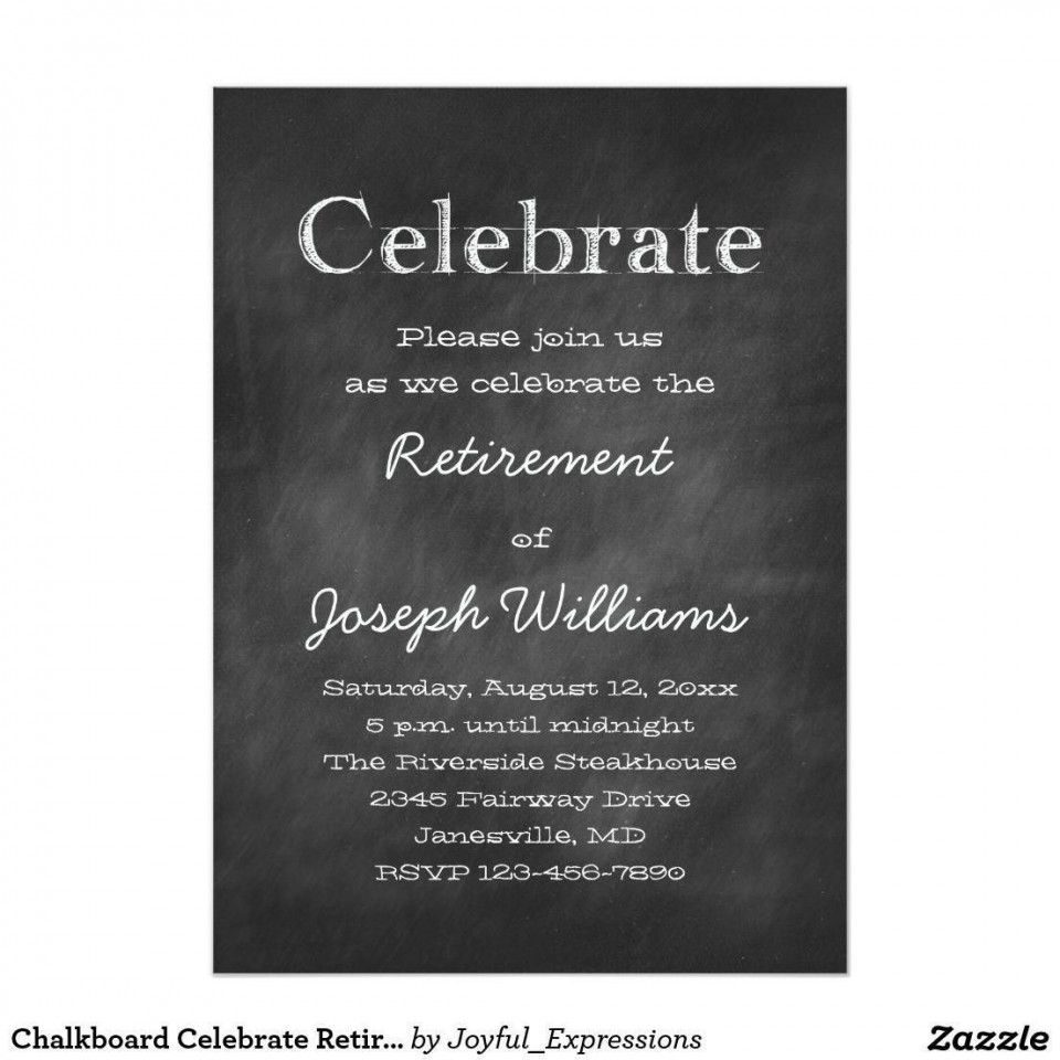 001 Imposing Retirement Party Invite Template Word Free Sample 960