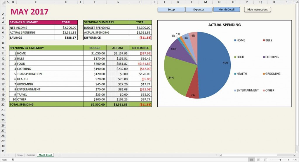 001 Imposing Simple Excel Budget Template Inspiration  Personal South Africa Household FreeLarge