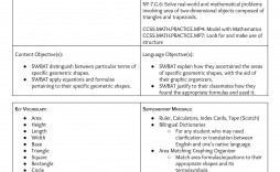001 Imposing Siop Lesson Plan Example First Grade Concept  1st