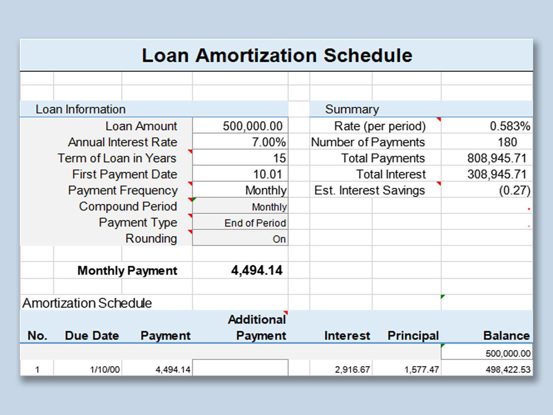 001 Impressive Amortization Schedule Excel Template Highest Quality  Calculator Free Loan Software DownloadFull