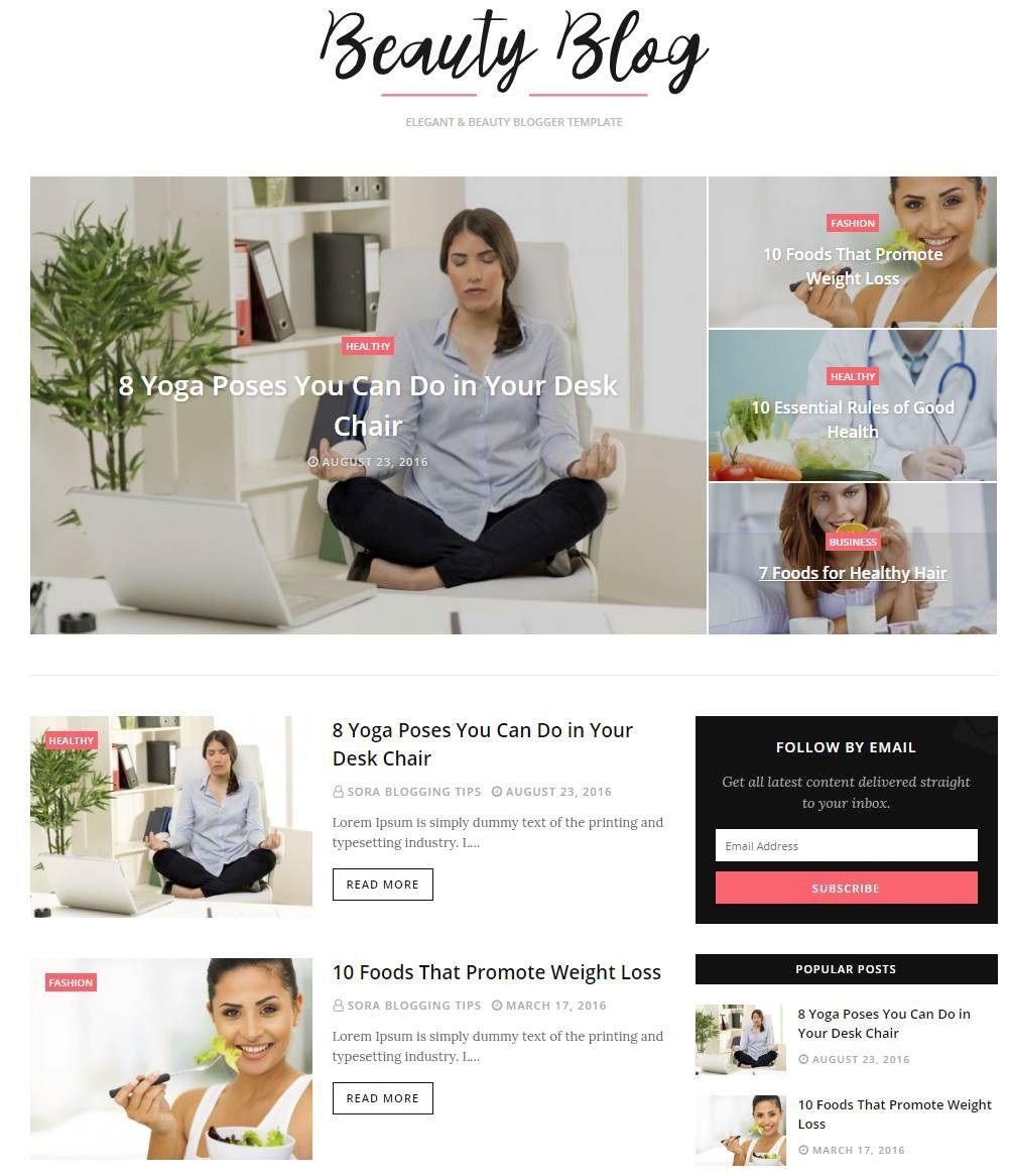 001 Impressive Best Free Responsive Blogger Template 2019 Image Full