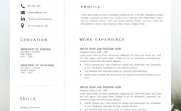 001 Impressive Best Professional Resume Template Picture  Reddit 2020 Download