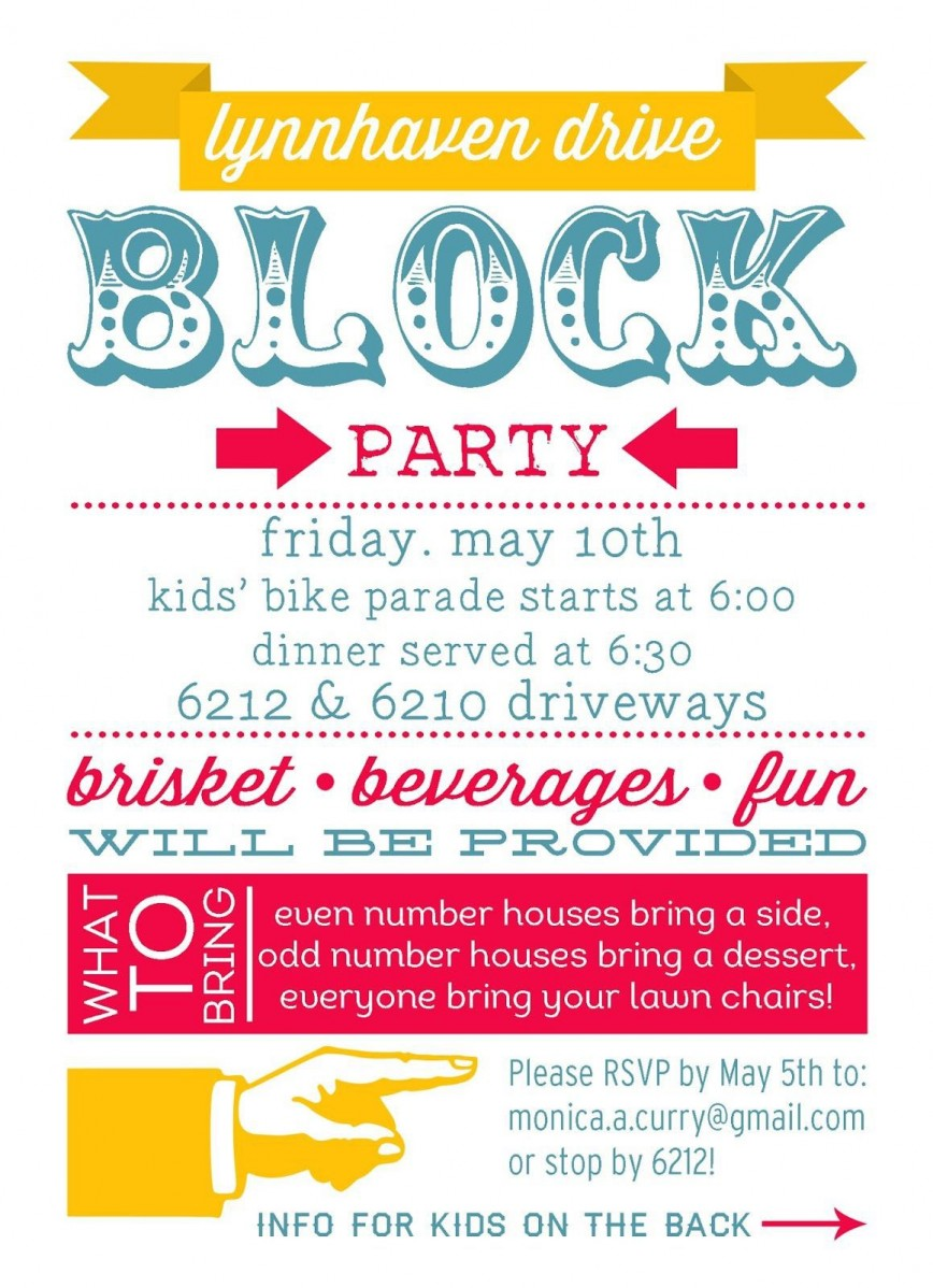 001 Impressive Block Party Flyer Template Picture  Free868
