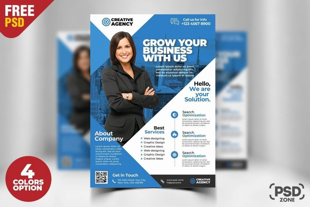 001 Impressive Busines Flyer Template Psd Free Download High Def Large