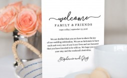001 Impressive Cruise Wedding Welcome Letter Template Image