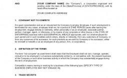 001 Impressive Employee Non Compete Agreement Template Concept  Confidentiality Non-compete Disclosure