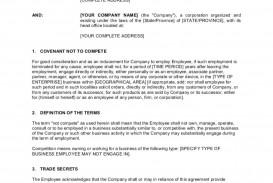 001 Impressive Employee Non Compete Agreement Template Concept  Disclosure Free