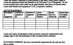 001 Impressive Equipment Lease Contract Template Free High Def  Agreement Word