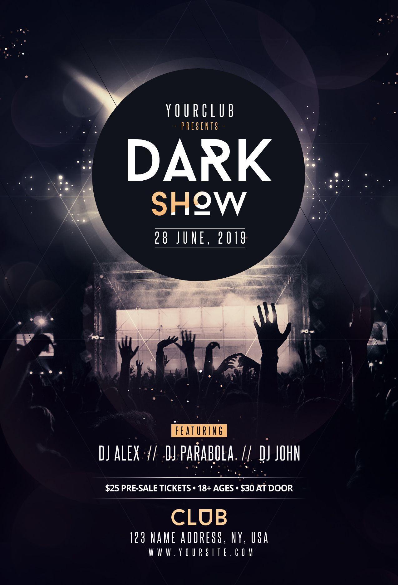 001 Impressive Event Flyer Template Free Psd Concept  Music BoxingFull