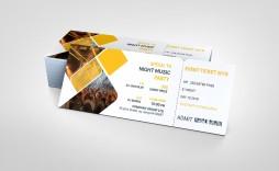 001 Impressive Event Ticket Template Photoshop Image  Design Psd Free Download