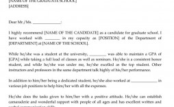 001 Impressive Example Of Letter Recommendation For Graduate School From Employer Highest Quality  Sample Pdf Grad