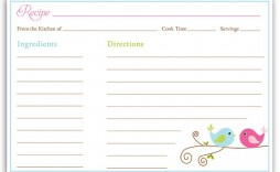 001 Impressive Fillable Recipe Card Template High Resolution  For Word Free
