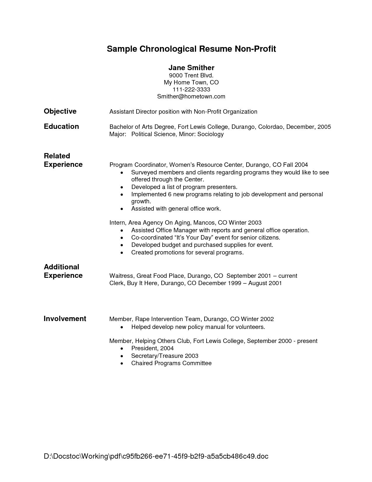001 Impressive Free Chronological Resume Template Inspiration  2020 CvFull