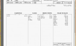 001 Impressive Free Pay Stub Template Excel Highest Quality  Canada
