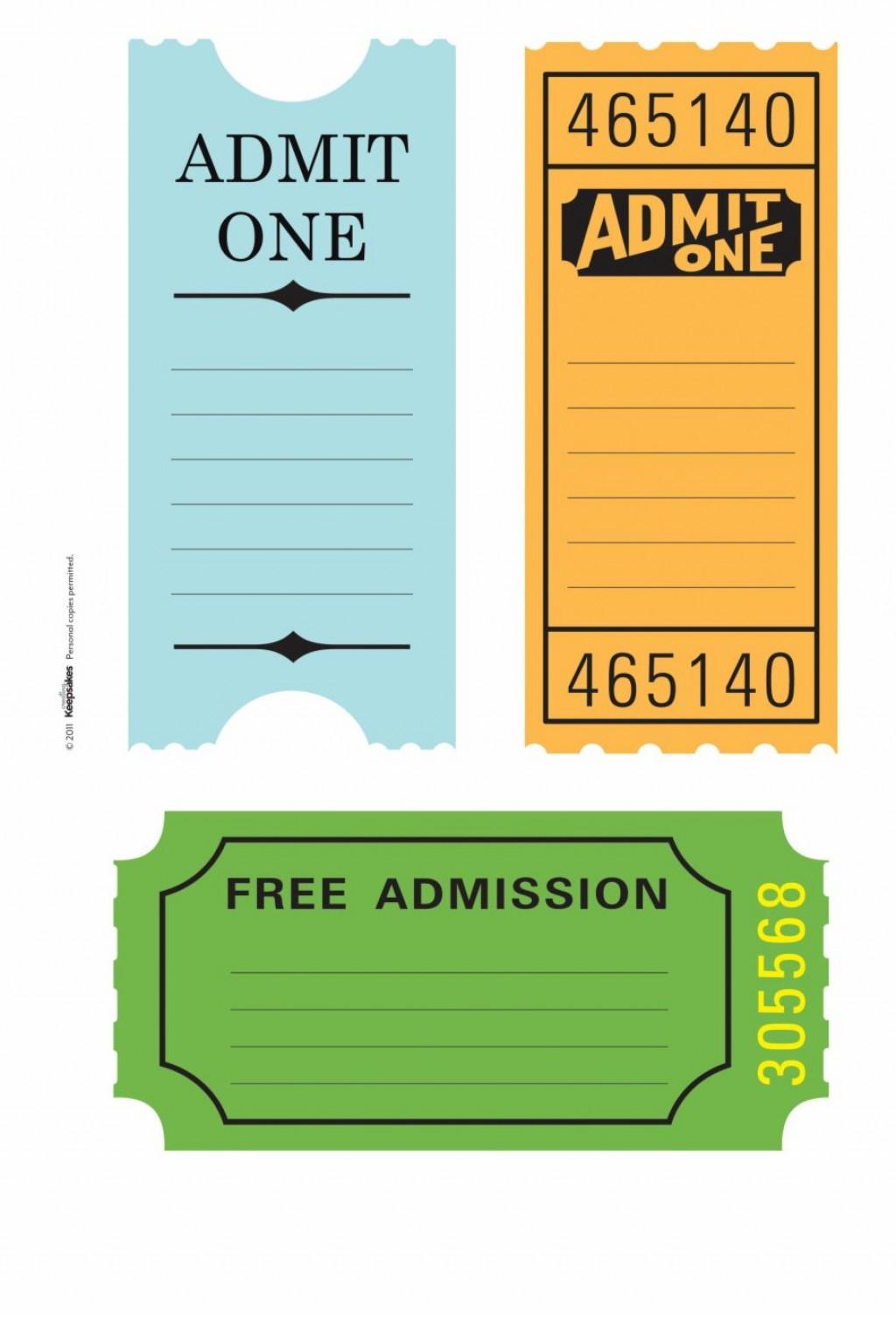 001 Impressive Free Printable Ticket Stub Template Sample Large