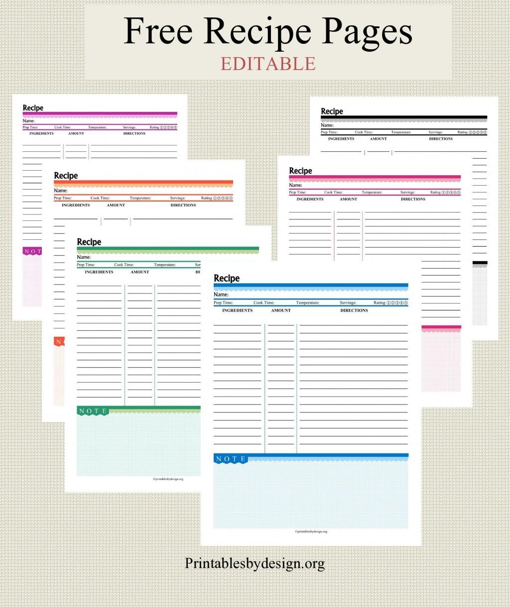 001 Impressive Free Recipe Book Template High Definition  Editable Cookbook For Microsoft Word IndesignLarge