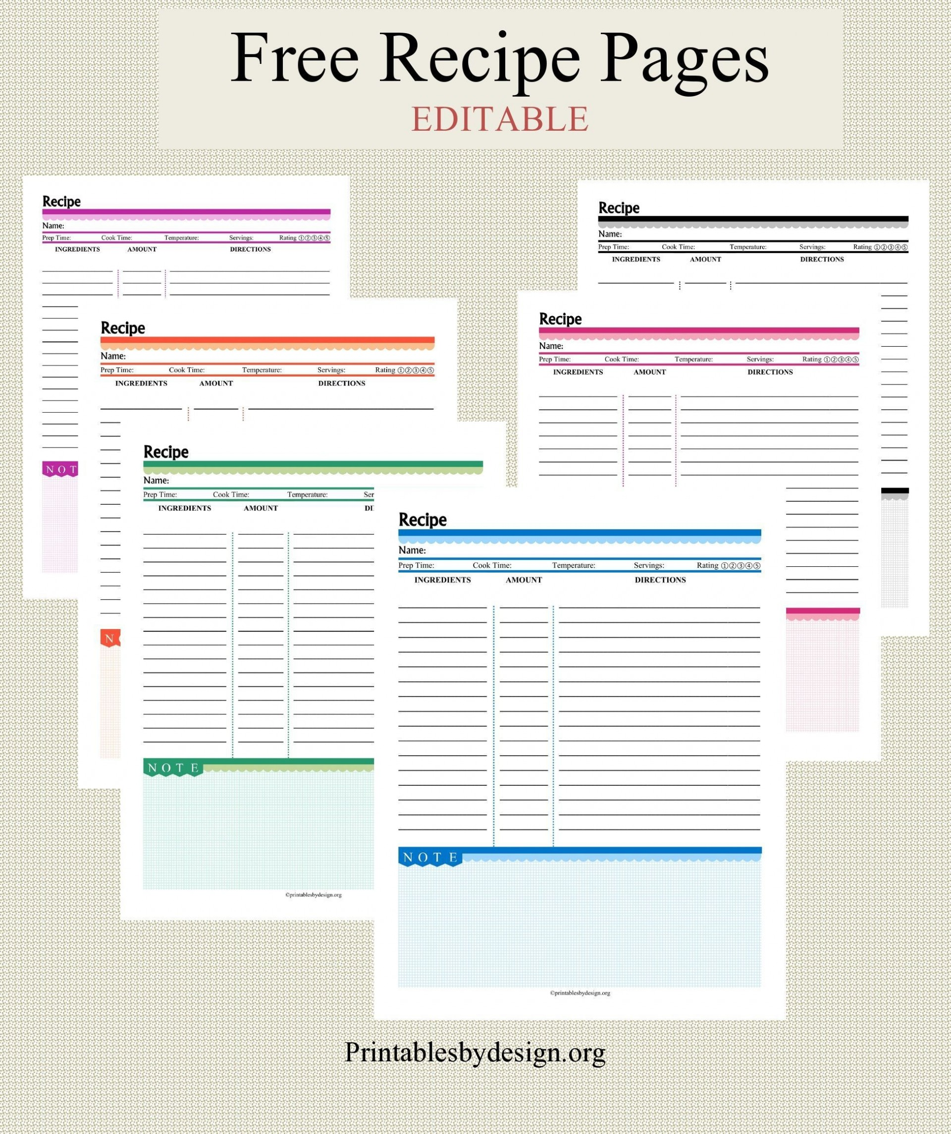 001 Impressive Free Recipe Book Template High Definition  Editable Cookbook For Microsoft Word Indesign1920