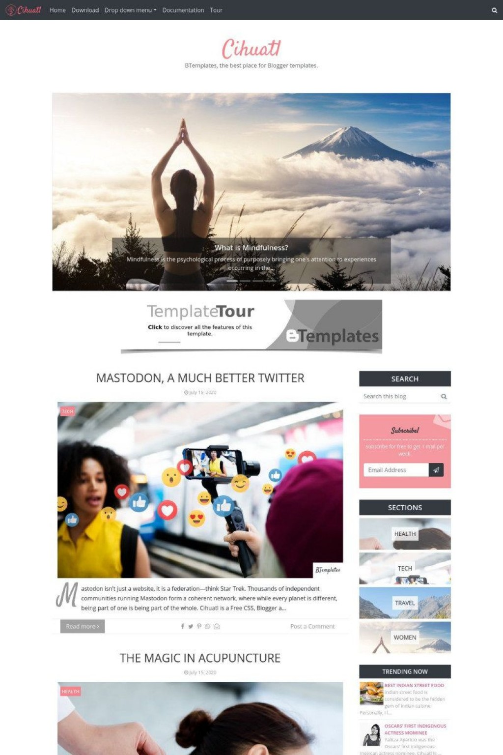 001 Impressive Free Responsive Blogger Template One Column Sample Large