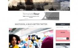 001 Impressive Free Responsive Blogger Template One Column Sample