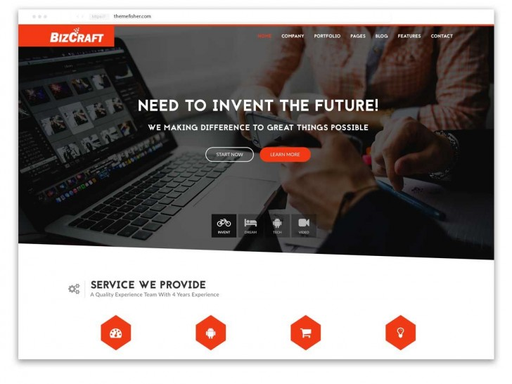 001 Impressive Free Responsive Website Template Download Html And Cs Jquery Photo  For It Company728