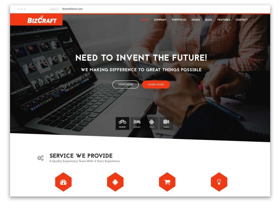 001 Impressive Free Responsive Website Template Download Html And Cs Jquery Photo  For It Company960