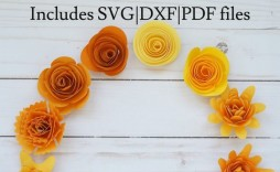 001 Impressive Free Rolled Paper Flower Template For Cricut Inspiration