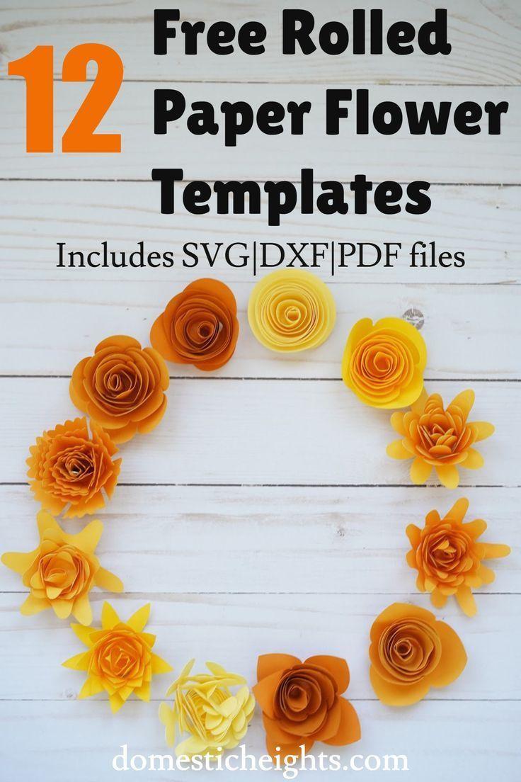 001 Impressive Free Rolled Paper Flower Template For Cricut Inspiration Full