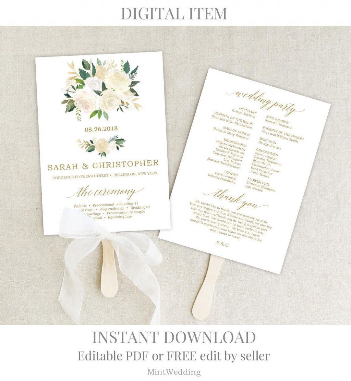 001 Impressive Free Wedding Program Fan Template High Def  Templates Printable Paddle WordLarge