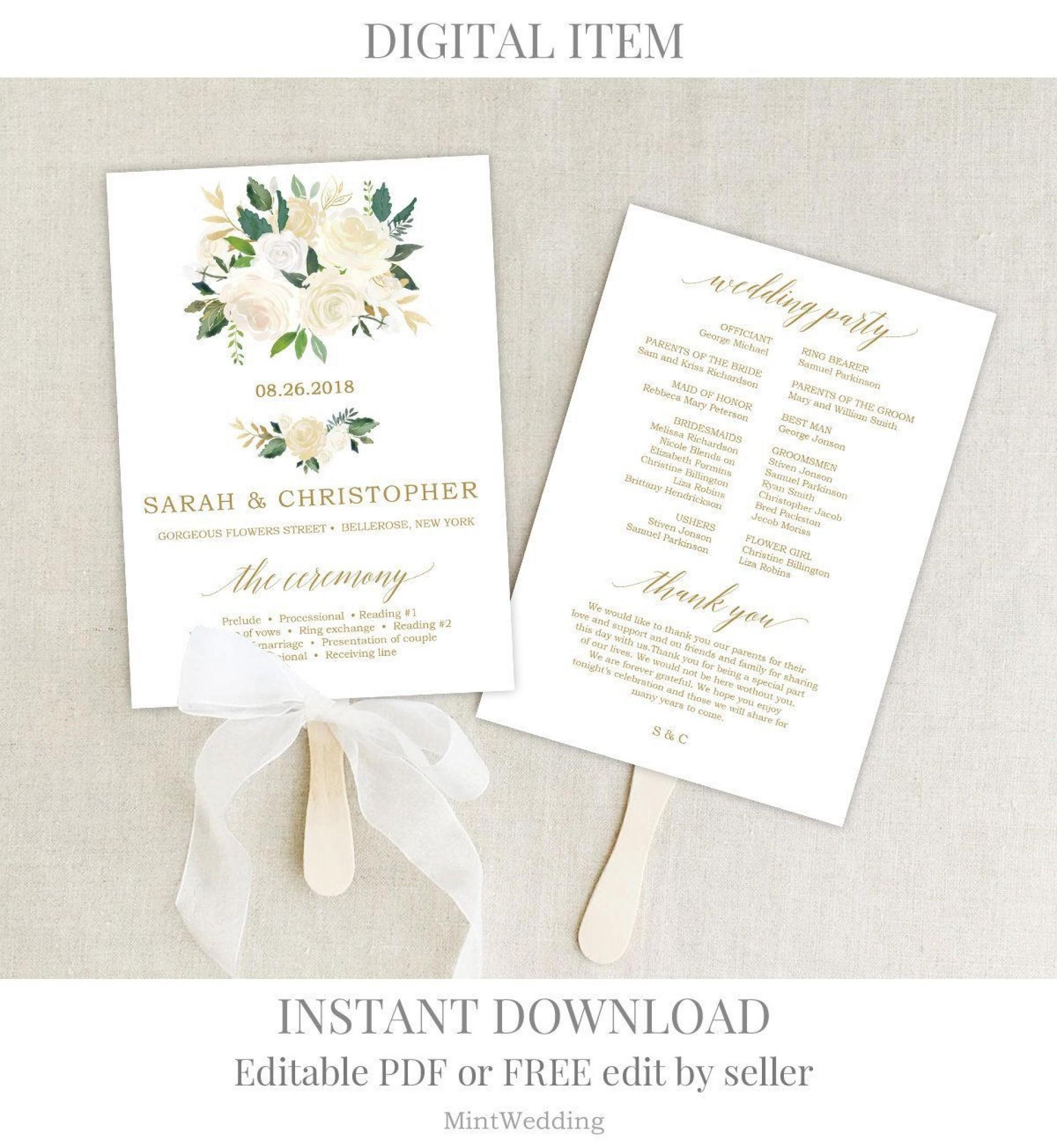 001 Impressive Free Wedding Program Fan Template High Def  Templates Printable Paddle Word1920