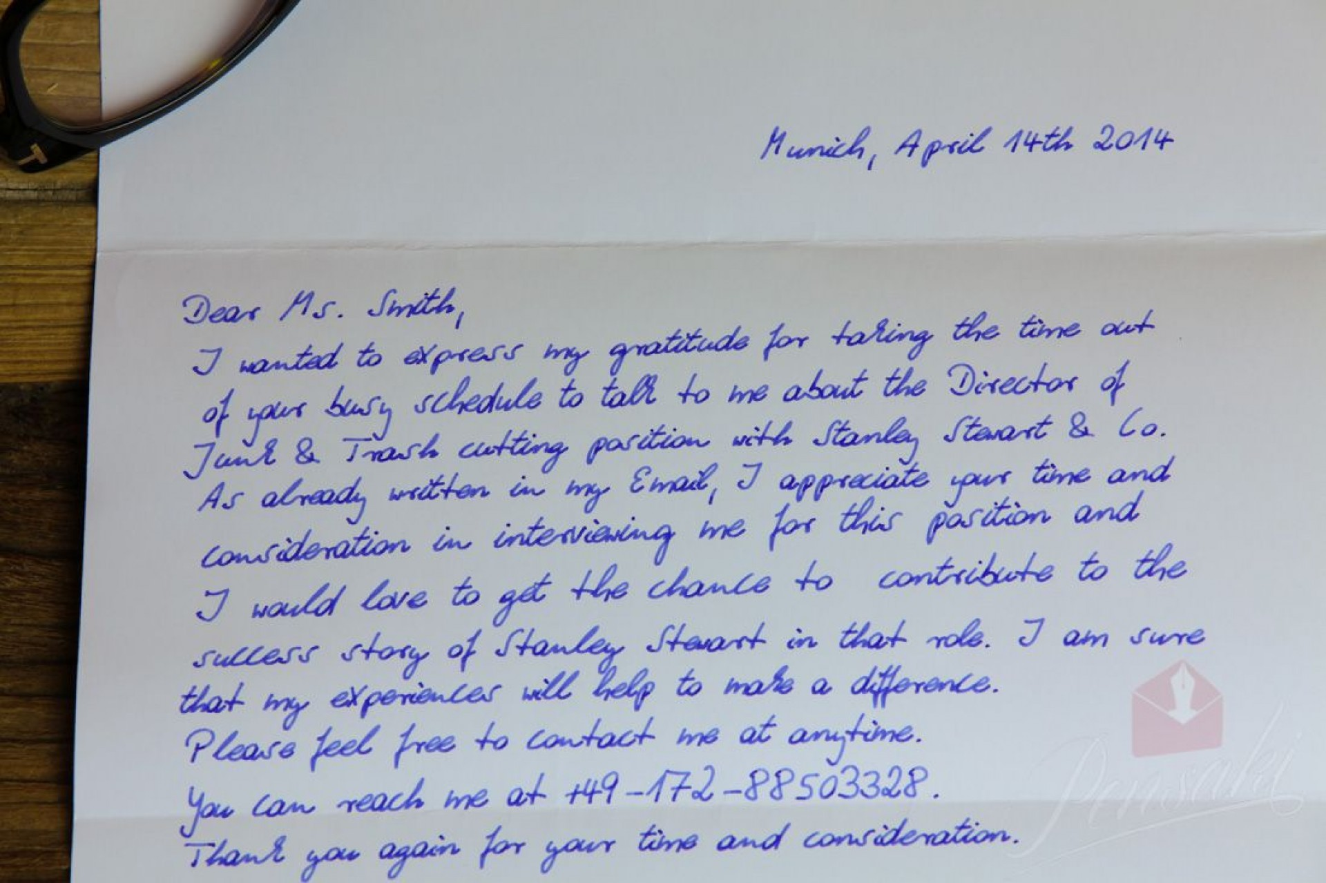 001 Impressive Handwritten Thank You Note After Interview Template High Resolution 1920