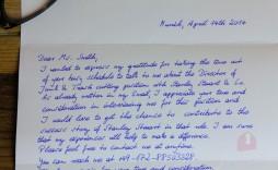 001 Impressive Handwritten Thank You Note After Interview Template High Resolution