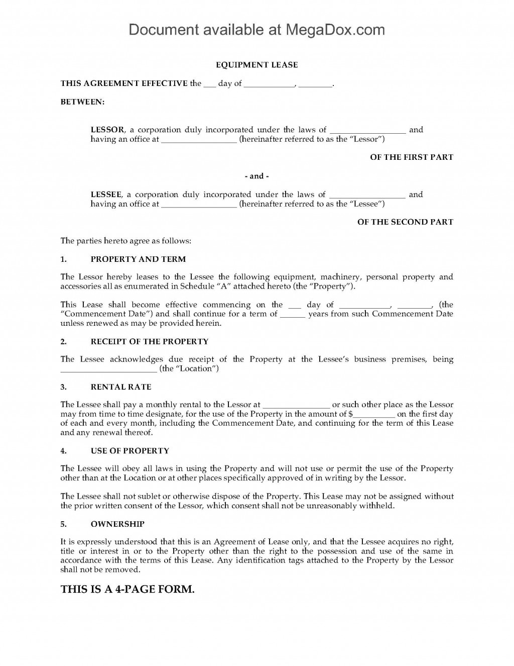 001 Impressive Lease To Own Contract Template Highest Quality  Free Form Commercial Agreement CarLarge
