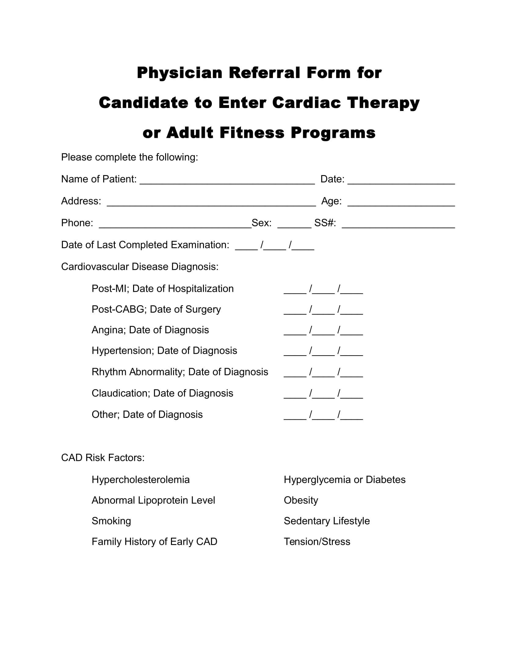 001 Impressive Medical History Form Template For Personal Training Highest Quality Full