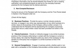 001 Impressive Non Compete Agreement Template Uk High Definition