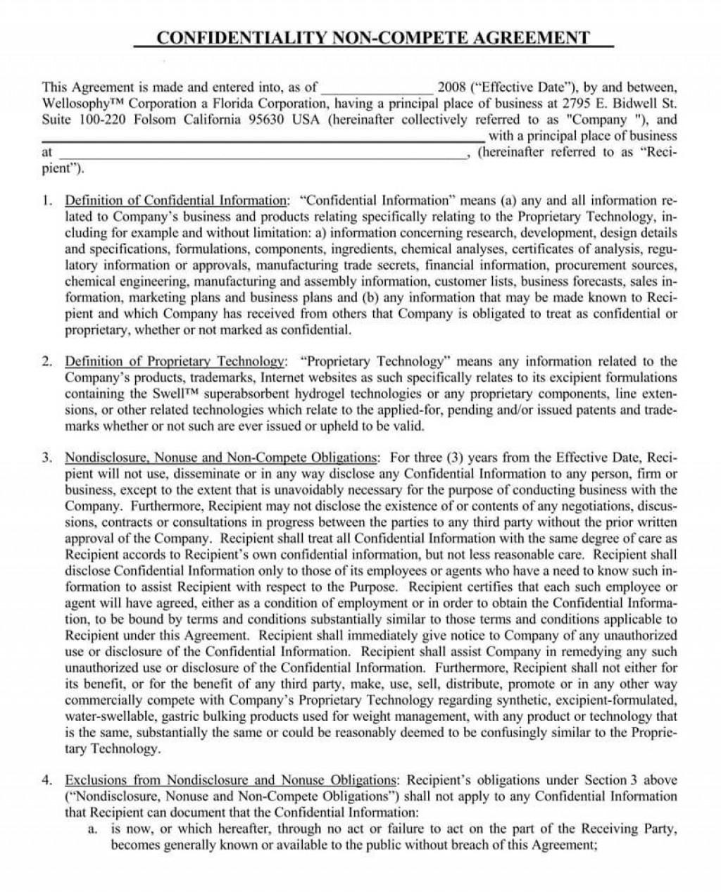 001 Impressive Non Compete Agreement Template Word Photo  Microsoft Non-compete FreeLarge