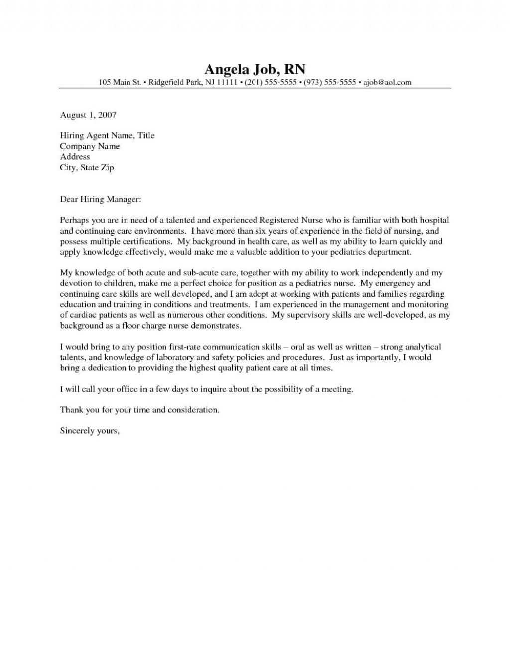 001 Impressive Nursing Cover Letter Template Highest Clarity  New Grad Word SchoolLarge