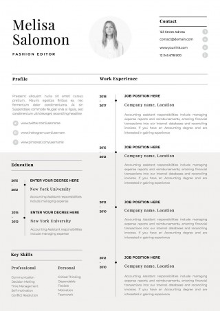 001 Impressive One Page Resume Template Idea  Word Free For Fresher Ppt Download Html320